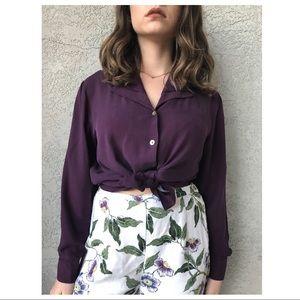 VINTAGE 🌟 100% silk top '90
